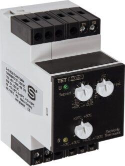 Электронный термостат для монтажа на DIN-рейку TET