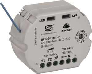 Редио-управляемый регулятор яркости на один канал DA100-FEM-UP