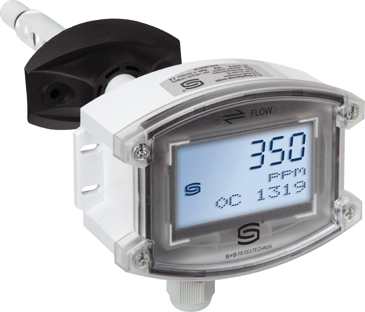 KFTM-LQ-CO2-LCD – Канальный датчик СО2, температуры и влажности