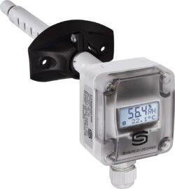 Канальный датчик температуры и влажности KFTF с дисплеем
